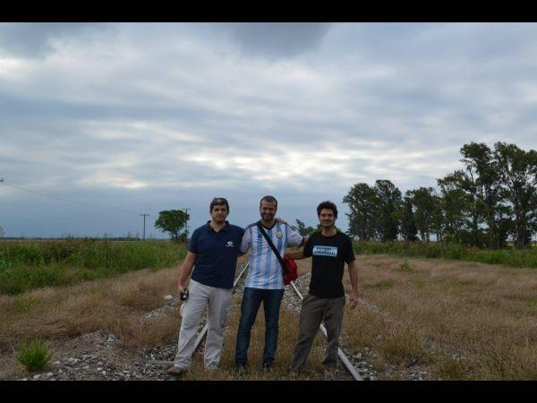 Compañeros de viajes, Franco Tisera y Javier Frola.